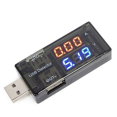 سنسور مانیتورینگ جریان و ولتاژ پورت USB با دو خروجی USB Tester 3-9 Volt 0-3 Amper