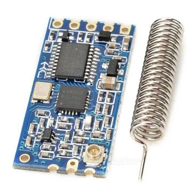 ماژول انتقال دیتا فرکانس 433MHz رابط سریال مدل HC-12 با چیپ SI4463 با برد 1000 متر