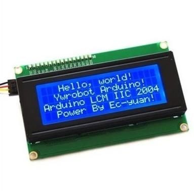 نمایشگر کاراکتری 4x20 آبی با رابط I2C