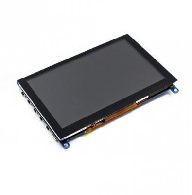 نمایشگر 5 اینچ (H) رنگی 800x480 با تاچ خازنی USB با ورودی HDMI و خروجی صدا مولتی سیستم محصول Waveshare