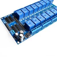 بورد رله 16 کاناله 5 ولت دارای رگولاتور LM2596 و اپتوکوپلر