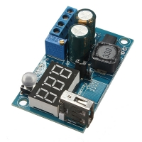 ماژول DCDC کاهنده ولتاژ 2A LM2596 با نمایشگر ولتاژ و خروجی USB