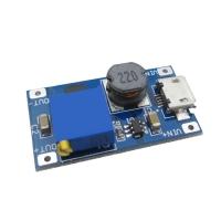ماژول DC/DC افزاینده ولتاژ کوچک MT3608 قابل تنظیم ولتاژ خروجی با امکان تغذیه از MicroUSB