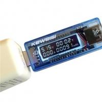 ماژول نمایشگر جریان ولتاژ و آمپر ساعت مصرفی USB Tester 4-20V 0-3A