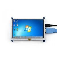 نمایشگر 5 اینچ (B) رنگی 800x480 با تاچ مقاومتی USB با ورودی HDMI مولتی سیستم محصول Waveshare