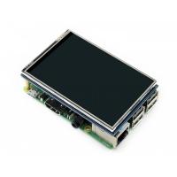 """هت نمایشگر تاچ """"3.5 رزبری Raspberry-Pi TFT (B) V4 تاچ مقاومتی و قلم Waveshare"""