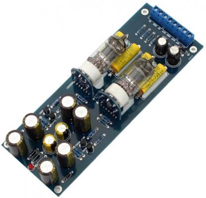 بورد پری آمپلیفایر لامپی با لامپ 6J1