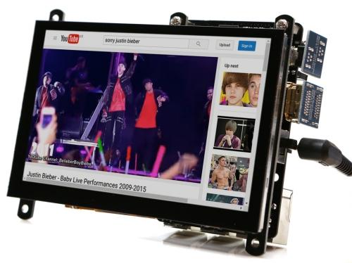 نمایشگر 5اینچ HDMI رزولوشن 800x480 مولتی تاچ خازنی مدل ODROID-VU5