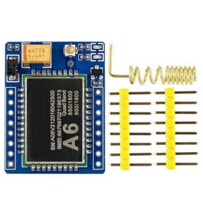 ماژول A6 میکرو سیمکارت SMS / GPRS / GSM با کانکتور U.FL