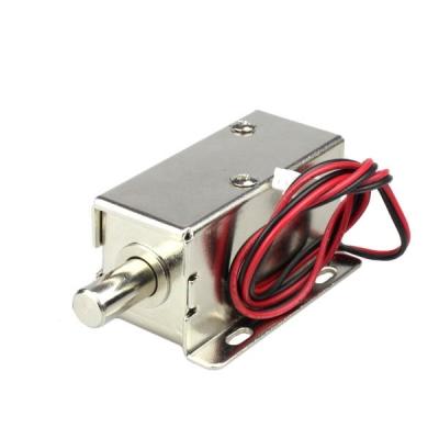 قفل برقی 12 ولت کابینتی با زبانه میله ای