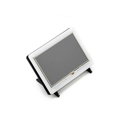 نمایشگر 5 اینچ (B) رنگی 800x480 با تاچ مقاومتی USB با ورودی HDMI مولتی سیستم با قاب دو رنگ Waveshare