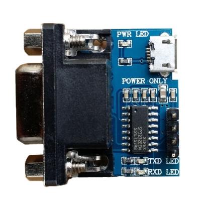 مبدل RS232 به TTL  با آی سی SP3232  و پاور microUSB