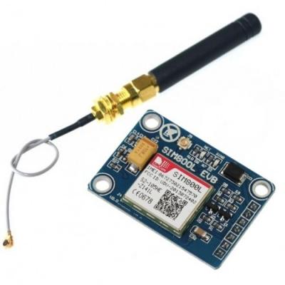 ماژول SIM800L میکرو سیمکارت SMS / GPRS / GSM با آنتن SMA و کانکتور U.FL