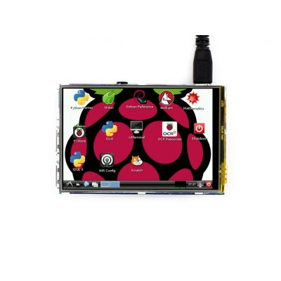 """هت نمایشگر تاچ """"3.5 رزبری Raspberry-Pi TFT (A) V4 تاچ مقاومتی و قلم Waveshare"""