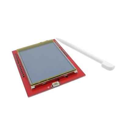 شیلد نمایشگر LCD TFT فول کالر 2.4 اینچ با درایور Ili9341 برای آردوینو UNO  تاچ مقاومتی