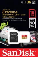 حافظه رم میکرو  SanDisk Extreme 16GB -90 مدل SDSQXNE-016G-GN6MA