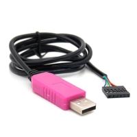 کابل مبدل USB به RS232 و TTL با چیپ PL2303HXD با 6 پین و پشتیبانی از ویندور، لینوکس و اندروید