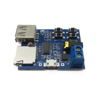 ماژول پخش MP3 از حافظه Micro SD و USB با تقویت کننده داخلی 3 وات و امکان تغذیه MicroUSB