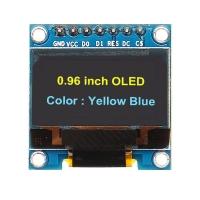 ماژول نمایشگر OLED زرد و آبی 0.96اینچ با رابط SPI سایز 128x64
